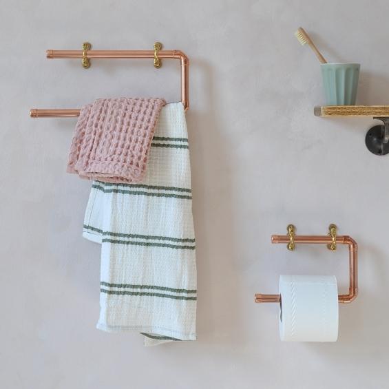 Copper Bathroom Towel Rail