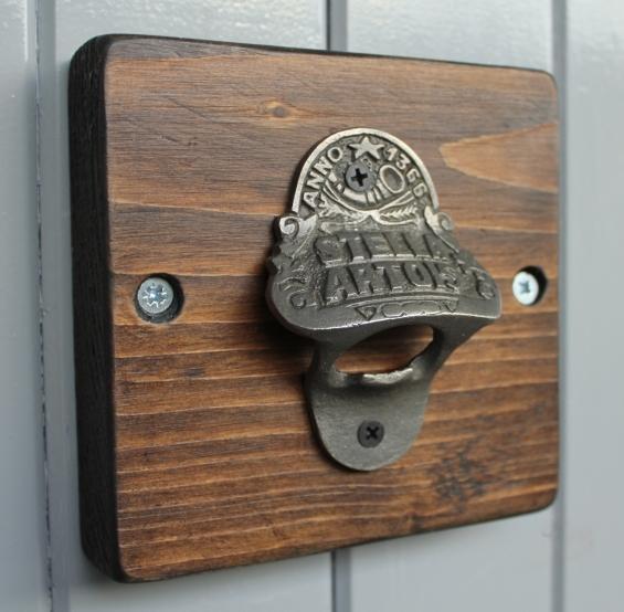 Reclaimed Wooden Beer Bottle Opener (Dark)