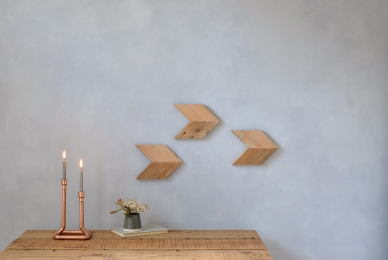 Reclaimed Wood Arrow Wall Art Set