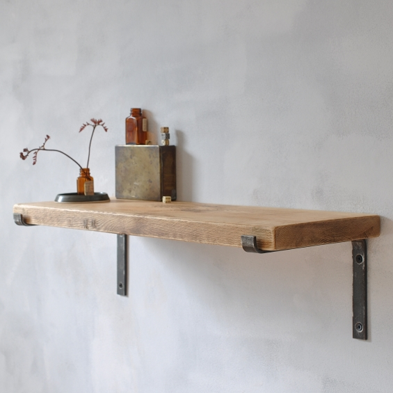 Brompton Wood And Steel Shelf