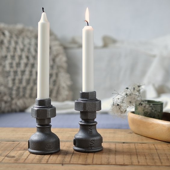Industrial Style Candle Holders