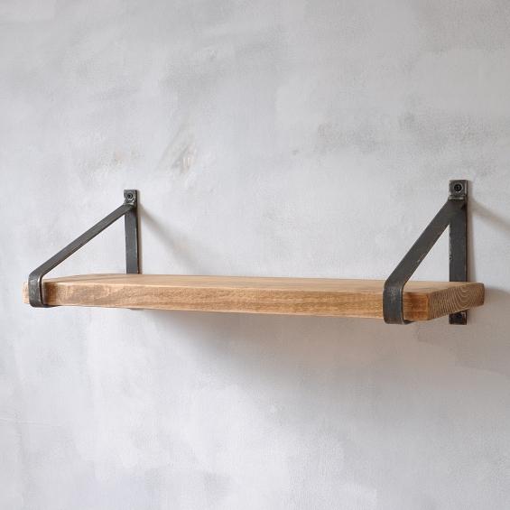Manhattan Industrial Wood Shelf