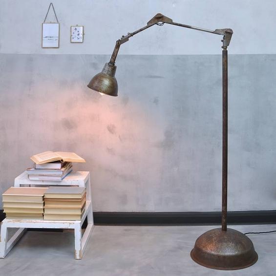industrial angle poise floor lamp