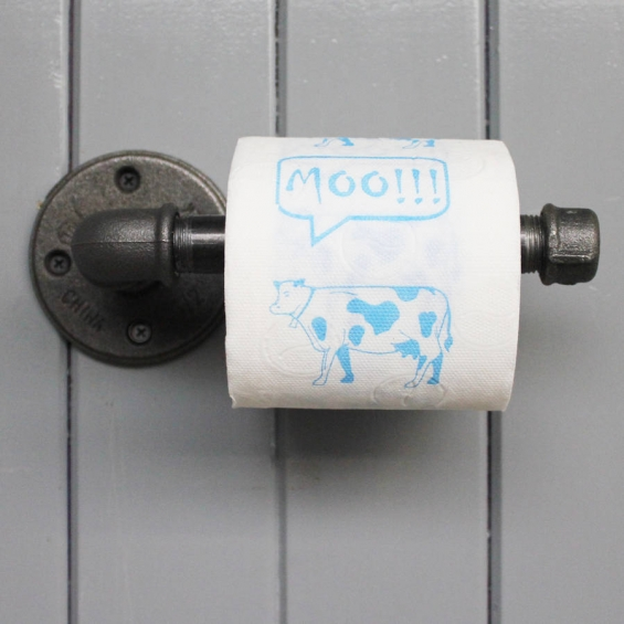 industrial steel toilet roll holder