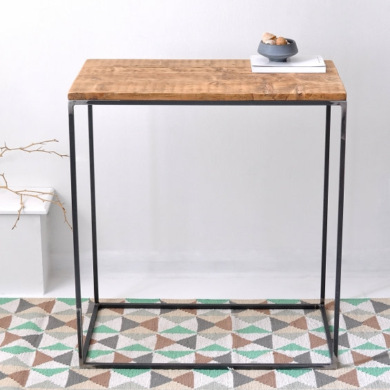 Oxford Wood And Steel Console Table