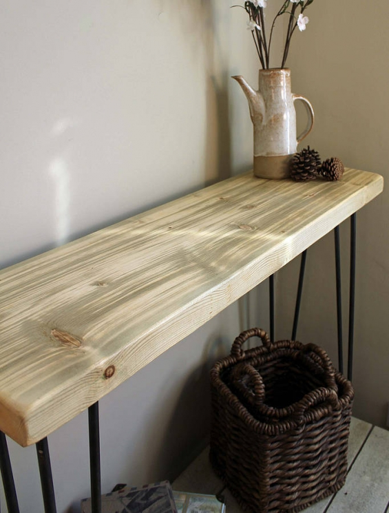 Industrial Style Console Table (Natural)